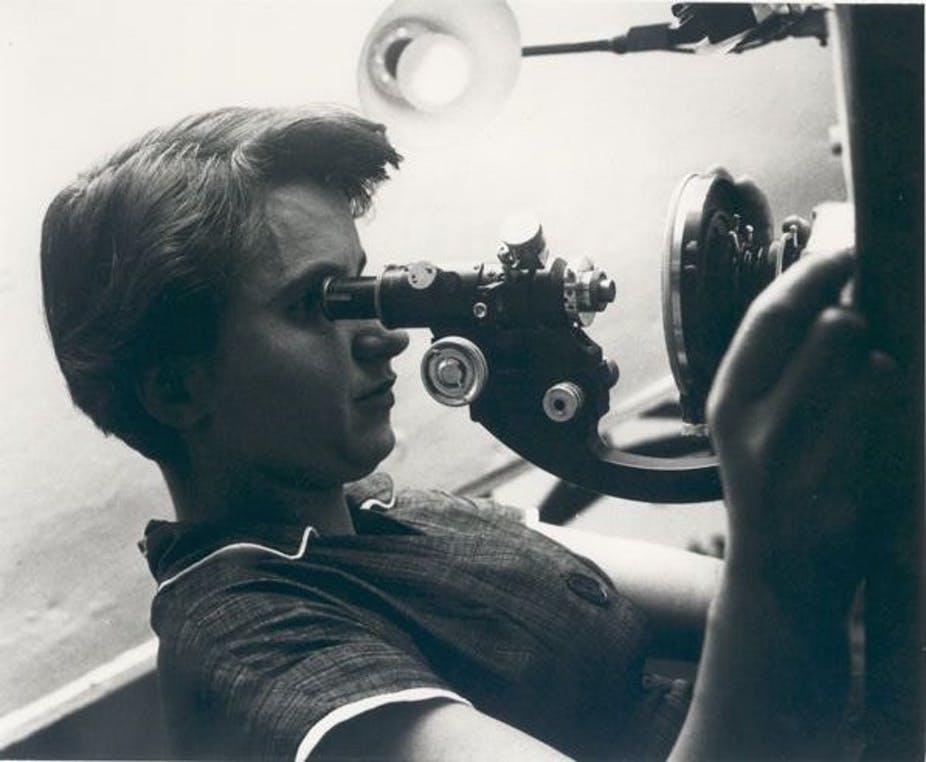 Rosalind Franklin przy pracy