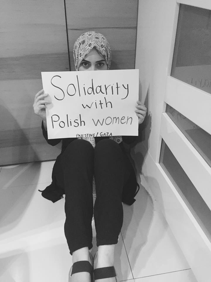 Palestyna wspiera Czarny Protest