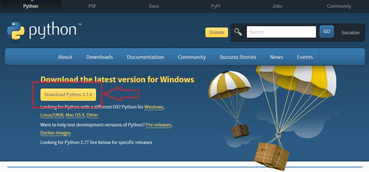 Instalacja Python 3