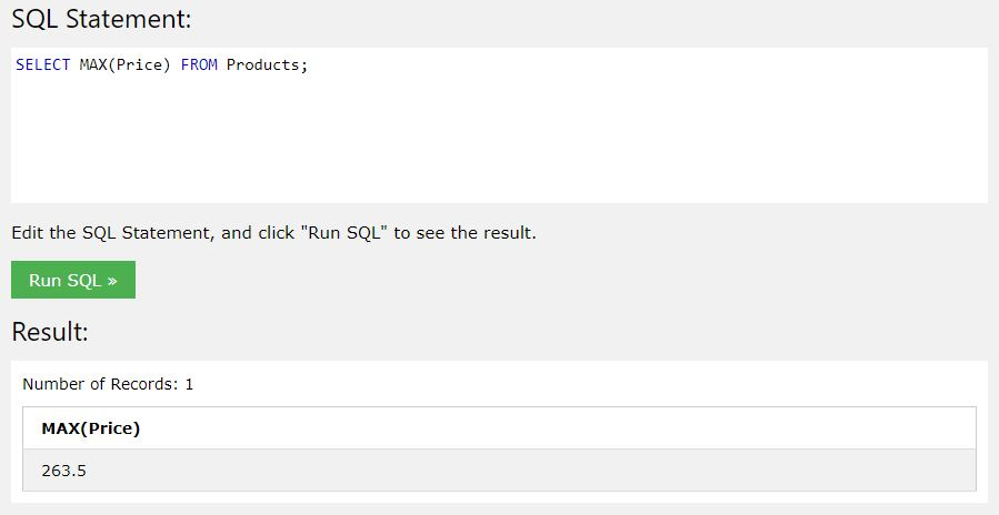 kurs sql - funkcja max