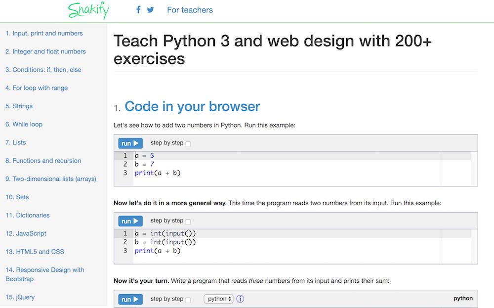 Snakify zadania Python