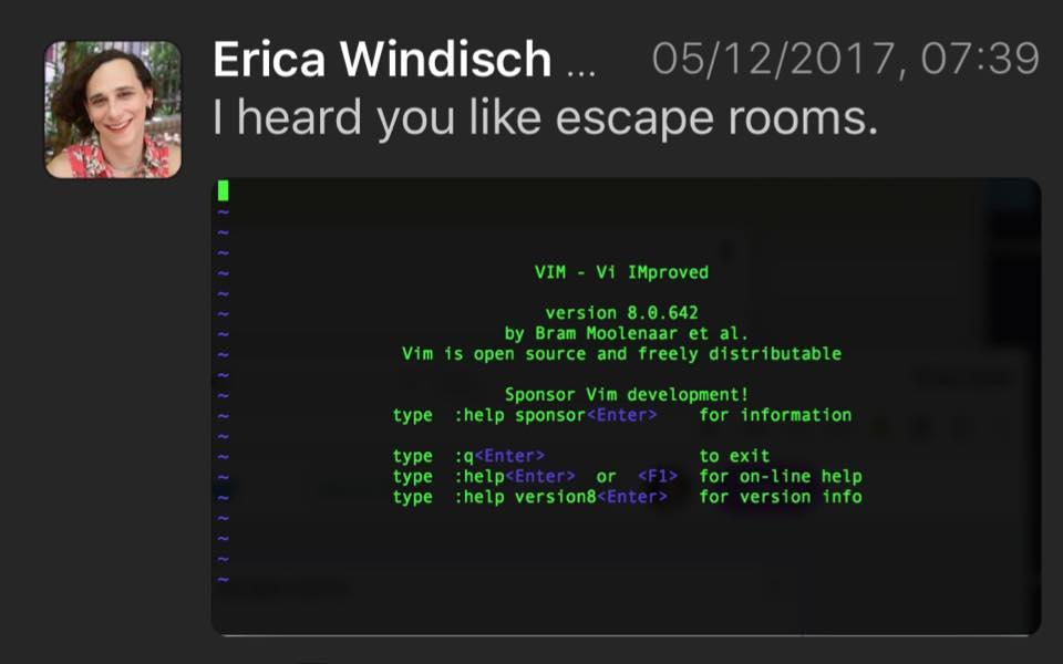 vim jako escape room - linux terminal komendy