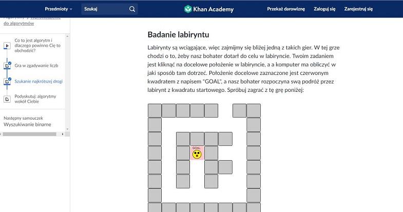 zadania z algorytmiki khan academy