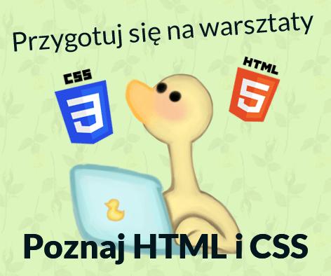 nauka HTML i CSS przed warsztatmi